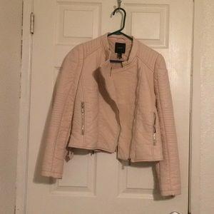 Light pink leather jacket